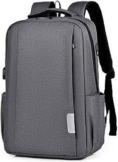 Wusssonggasjbb Backpacks, حقيبة الظهر للرجال والنساء حقيبة سعة كبيرة حقيبة الأعمال عارضة الكمبيوتر حقيبة الظهر (Color : Grey)