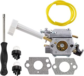 Dalom RY08420A Carburetor w Adjustment Tool for Ryobi RY08420 Leaf Blower BP42 Backpack Blower Fuel Line Filter Spark Plug 308054079