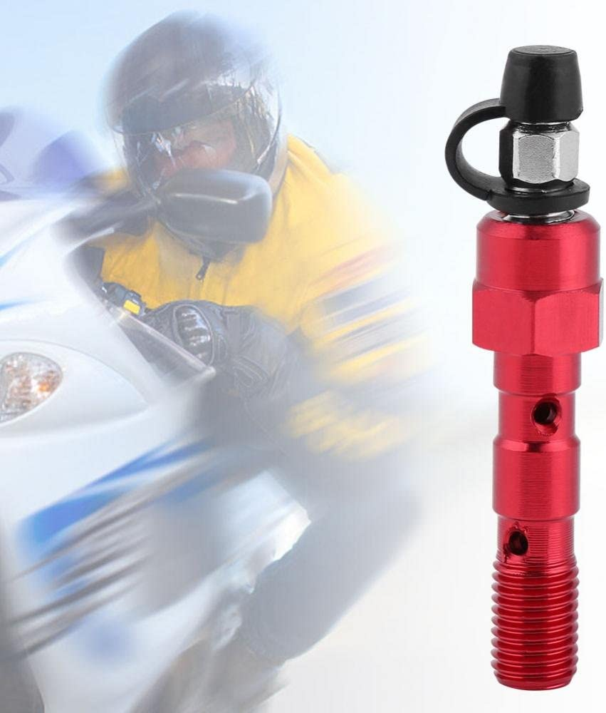 Red Aramox Motorcycle M10 x 1.25mm Brake Cylinder Caliper Screw Banjo Bolt Bleed Valve Nipple Washers Dust Cap Universal Banjo Bolt