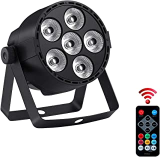 Led Stage Lights RGBW, Full Power 24W Par Light with 4IN1 RGBW Colour Mixing by Remote DMX512 Control Auto Play Sound Activated Uplighting for Wedding Halloween Christmas Party Church Club Live Show