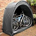 EMGOD Bike Tent Bike Storage Shed,Outdoor Bike Storage Tent Cover,Thicken Fabric Reinforced Alloy Bracket,for Outside Outdoor Bicycle Sundries Storage,Black