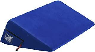 Liberator Wedge Intimate Sex Positioning Pillow, Blue Microfiber, 24 inch.