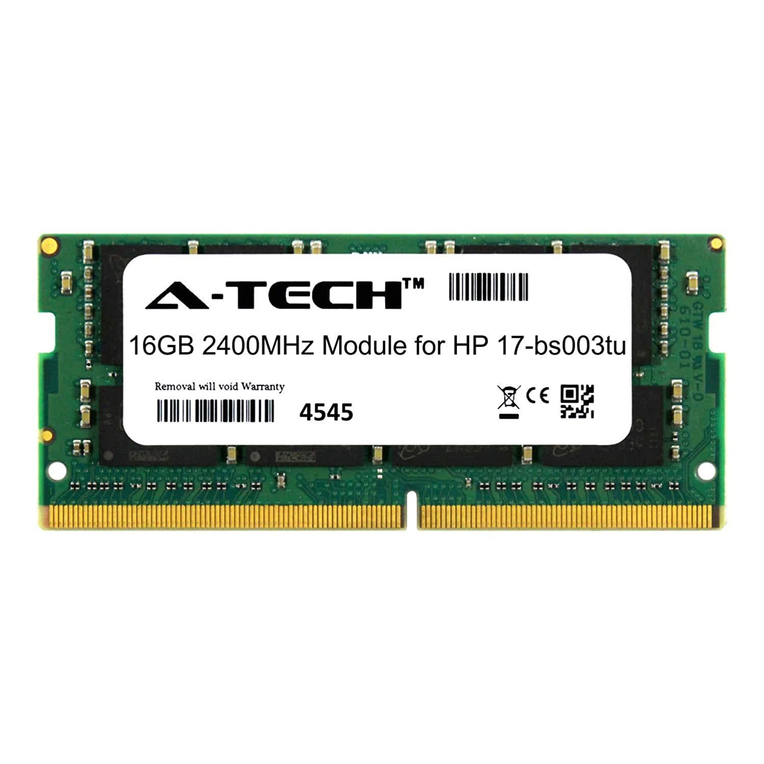 A-Tech 16GB Module for HP 17-bs003tu Laptop & Notebook Compatible DDR4 2400Mhz Memory Ram (ATMS382478A25831X1)