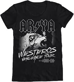 GEEK TEEZ Arya Westeros Vengeance Tour Women's T-Shirt