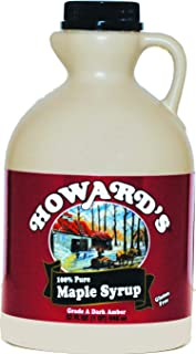 HOWARD'S Pure 100% Grade A Dark Amber Maple Syrup | Gluten Free, Premium Sourced Quality | 32oz (1 quart) Value Jug