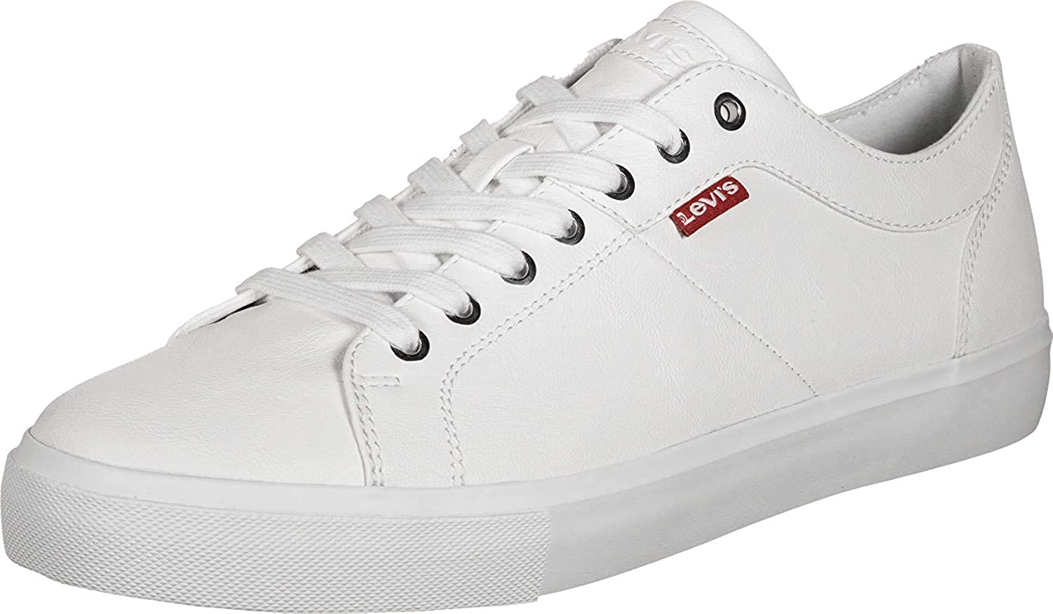 Woodward Leather Trainers, White
