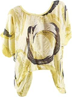 UUGYE Women Loose Crew Neck Summer Short Sleeve Print Tops T-shirt Blouse