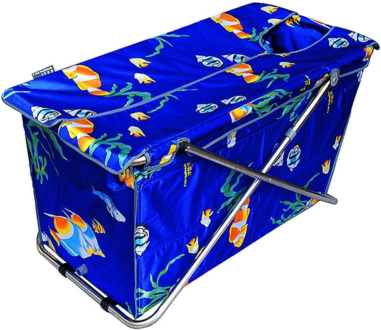 GYF Faltende BadewanneFaltbare Badewanne Für Erwachsene,Erwachsene Faltbadewanne Frei Schaumbad Barrel Abnehmbare Kinderbadewanne 108X45X52CM (Farbe   Blau)