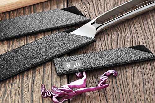 Cangshan 61741 6-Piece Knife Edge Guard Set, Black