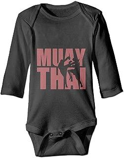 PUREYS-I Printed Muay Thai Kawaii Infant Baby Boy Girl Long Sleeves Bodysuit Jumpsuit Outfits