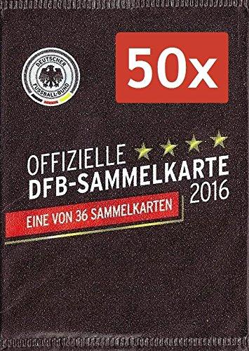 50x DFB Sammelkarte EM 2016 REWE Neu & OVP