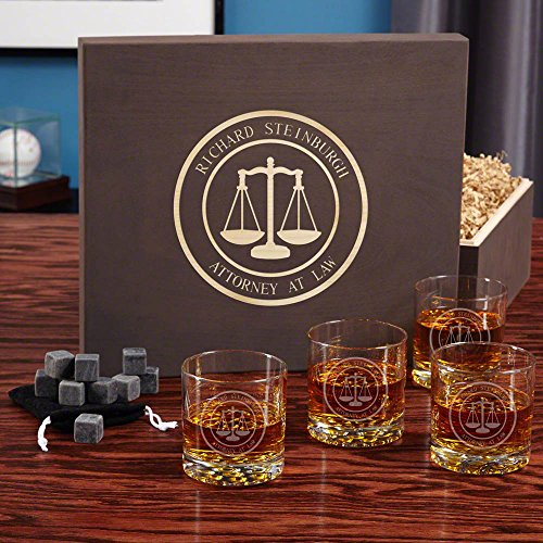 Personalised 'Scales of Justice' Whiskey Gift Set