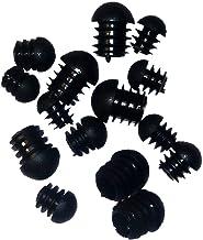 Pauli roestvrijstalen design 10 stuks Lamellenstop voor ronde buis met halfronde kop