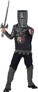 Boys Black Knight Zombie Medieval Costume