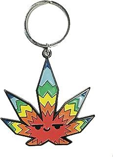 Hat Shark Pot Smoking Pals Weed Pot Leaf Rainbow Logo Enamel Key Chain Keychain