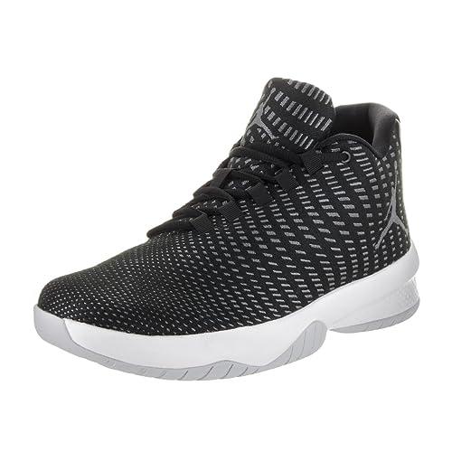 8977a26ad322a NIKE Jordan Mens Jordan B. Fly Black White Dark Grey Basketball Shoe 9