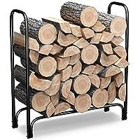 Home-Complete Firewood Storage Rack- Steel Wood Pile Holder