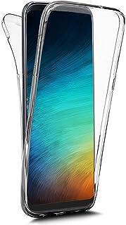 QPOLLY skyddsskal kompatibel med Huawei P30 360 grader skyddshölje av transparent silikon klar
