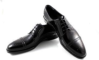 CANNERI Scarpe Stringate Uomo - Nero - 9139 - Captoe Oxford - Tempo Libero e Affari - Scarpa Classica in Pelle con Design ...