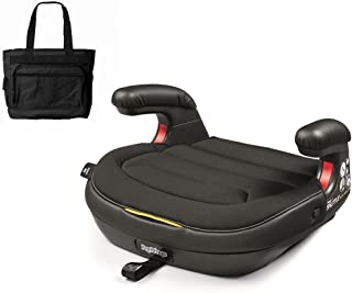 Peg Perego Viaggio Shuttle Backless Booster - Licorice with Stylish Diaper Bag