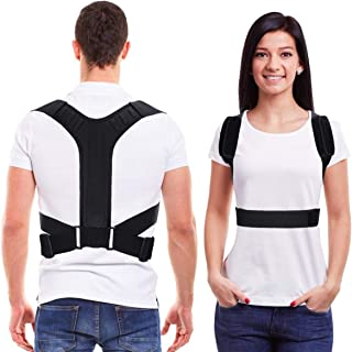 Back Brace Posture Corrector for Men and Women -Xdtlty Adjustable Upper Back and Legs Brace for Clavicle Support and Providing Pain Relief from Neck, Back and Shoulder - 2020 New Upgraded - 2XL