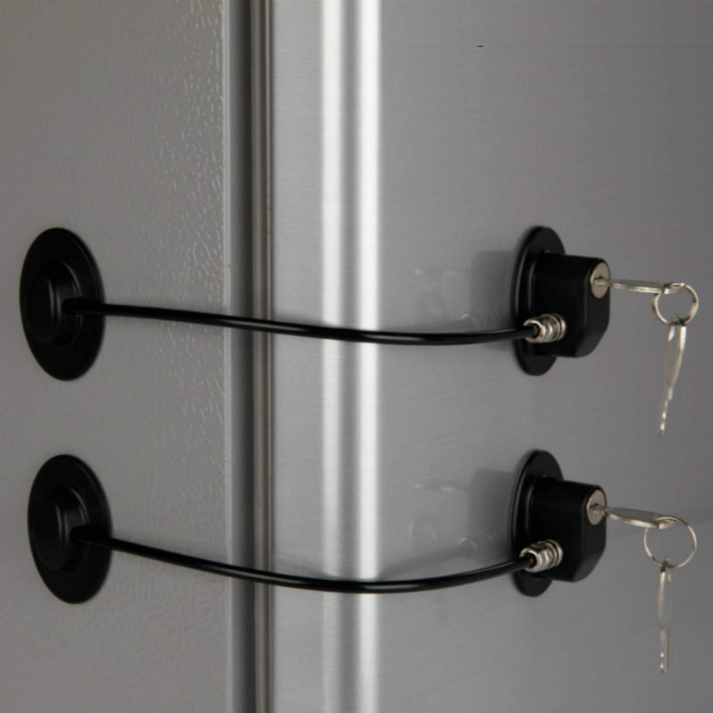 2 Pack Refrigerator Door Locks with Fr Drawer Keys Choice service File Lock 4