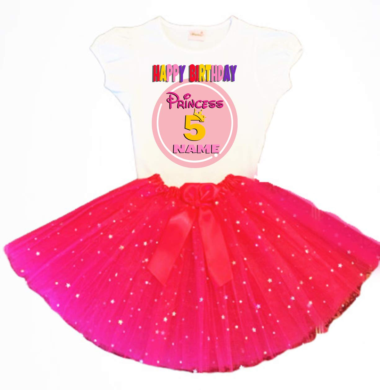 Princess Crown Birthday Tutu 5th Fuchsia 2021new shipping free shipping Dress Rapid rise Tu Party