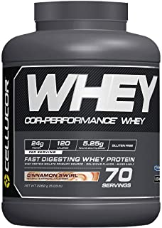 CELLUCOR COR-Performance Protein Powder Cinnamon Swirl | 100% Whey Isolate | Gluten Free + Low Fat Post Workout Muscle Growth Drink for Men & Women | 70 Servings