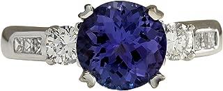 Best white gold tanzanite and diamond ring Reviews