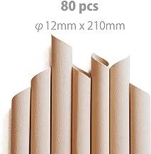 BambooFiberStraw 竹繊維ストロー「タピオカ用」斜め口 210mm×12mm 80本入り