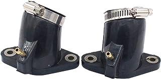 MOTOKU Pack of 2 Carburetor Carb Intake Manifold Joint Boot for Yamaha XVS650 VStar Custom XVS650A V-Star Classic XVS650AT...