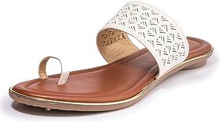 Khadim's Synthetic PVC Sole Laser-cut Sandal For Women