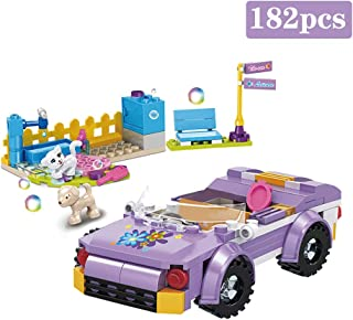 BRICK STORY Girls Building Blocks Toys - Convertible Car Model Pet Bathing Pool Building Kit Role-Playing Gift for Children Aged 6 and up 4549 (182 PCS)