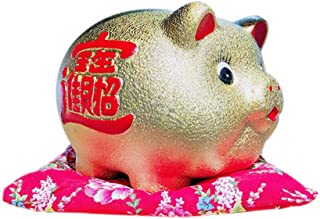 Chinese Style Personalized Ceramic Kids Piggy Bank Keepsake Adult Coin Bank