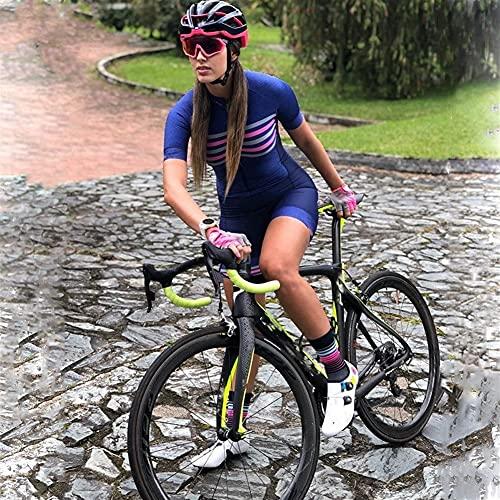 Jersey de cyclisme pour femmes Triathlon Sportswear à manches courtes Mode Pantalon décontracté Combinaison de dames (Color : 2, Size :...