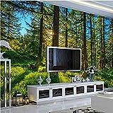 Djskhf 3D壁紙写真の壁紙自然の新鮮な松緑の森の風景の背景の壁カスタム高品質の壁紙壁画 280X200Cm