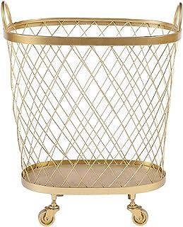 ZWMG Paniers de Rangement Le Panier de Rangement doré avec poulies Peut Se déplacer Librement dans Une boîte de Rangement ...