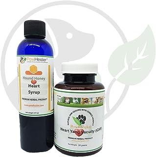 Heart Support - Bundle - Heart-Yang Vacuity (CHF) - 50 Grams Herbal Powder + Hound Honey: Heart Syrup - 5 fl oz (150 ml) -...