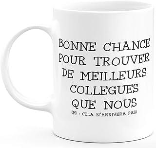 Mug Humour drôle Tasse a Cafe Cadeau Rigolo Original Humoristique Fun à Message pour Femme et Homme collègues - idée Cadea...