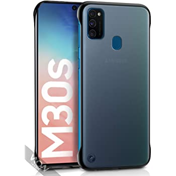 WOW Imagine | The Ultimate Case for Galaxy M21 / M30s | Shock Proof Ultra Slim Frameless Design | Complete Protection Bumper Hard Back Case Cover for Samsung Galaxy M30s / M21 - DarkNight Matte Black