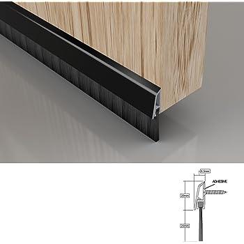 FIXMAN 447234 - Burlete para puertas de garaje de aluminio, cerdas de 50 mm (Cerdas de 2.134 mm, aluminio): Amazon.es: Bricolaje y herramientas