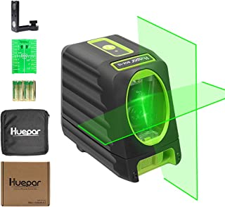Self-leveling Laser Level – Huepar Box-1G 150ft/45m Outdoor Green Cross Line Laser..