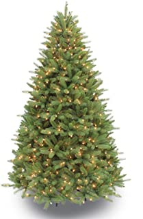 Puleo International 7.5 Foot Pre-Lit Premier Douglas Fir Artificial Christmas Tree with 800 UL Listed Clear Lights, Green