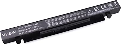 vhbw Li-Ion Akku 2200mAh 14 8V f r Notebook Laptop Asus X450 X450V X450VB X450VC X450VE wie A41-X550A A41-X550 Schätzpreis : 17,99 €