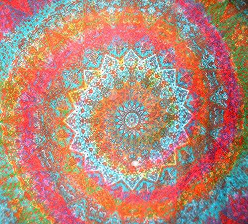 Traditional Jaipur Stern groß Mandala Wandteppich, Tie Dye indischen Wandbehang, Bohemian Elefant Bettwäsche Queen Hippie, Schlafsaal, Raum Dekorationen Boho Picknick Werfen, Gyspy Strand Decke