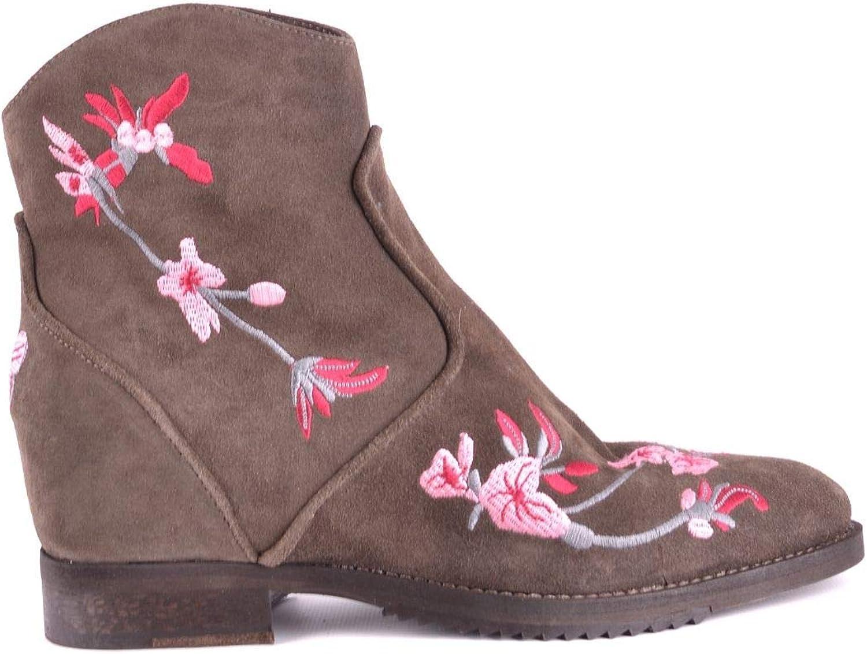 J D JULIE DEE Women's MCBI32884 Brown Suede Ankle Boots