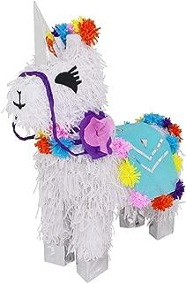 Lytio Unicorn Llama Pinata Handmade Ideal for Girl Birthday Party Supplies, Magical Theme Party Favor,Center Piece, or Photo Prop, Mexican Piñata Game