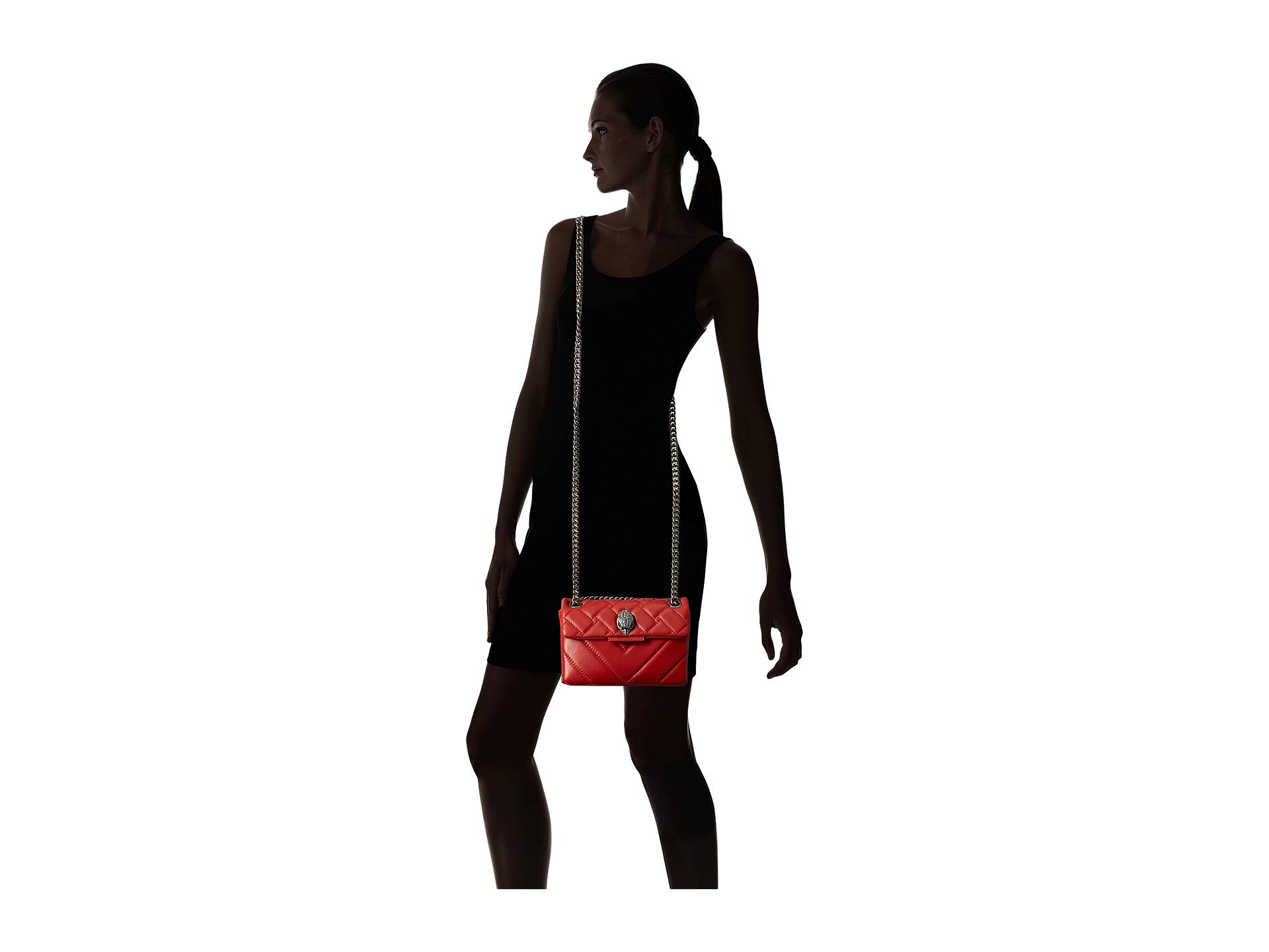 Leather Geiger Crossbody Red Mini London Kurt Kensington AzHUA