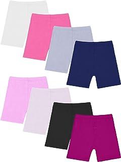 Resinta 8 Pack Black Dance Shorts Girls Bike Short...