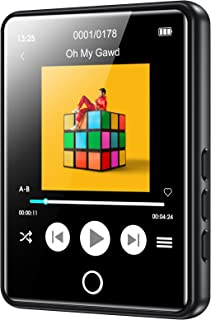 RUIZU Mp3 Player with Bluetooth 5.0,16GB Music Player with FM Radio,Built-in Speaker,Touch Screen HiFi Sound Bluetooth Mp3...